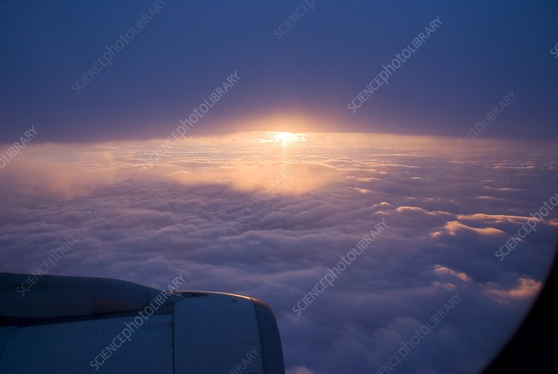 Sunset from aircraft
