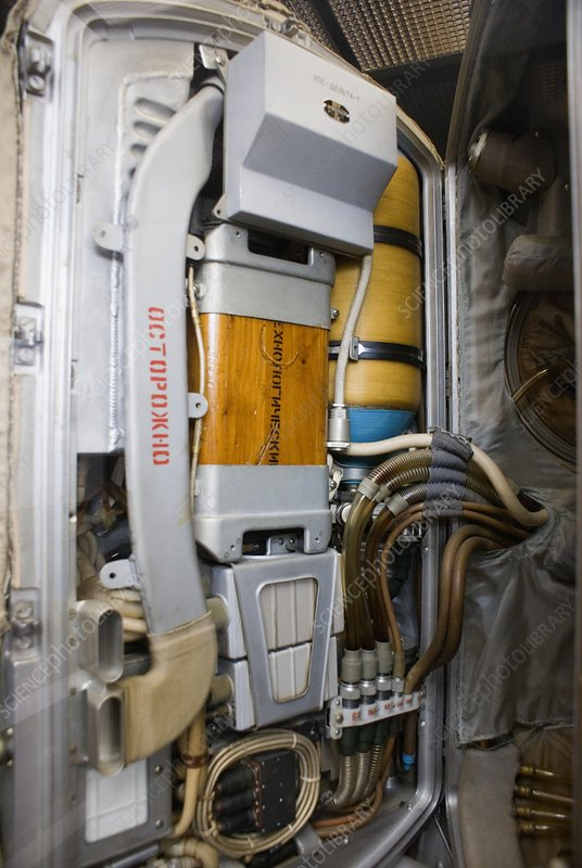 Russian spacesuit interior