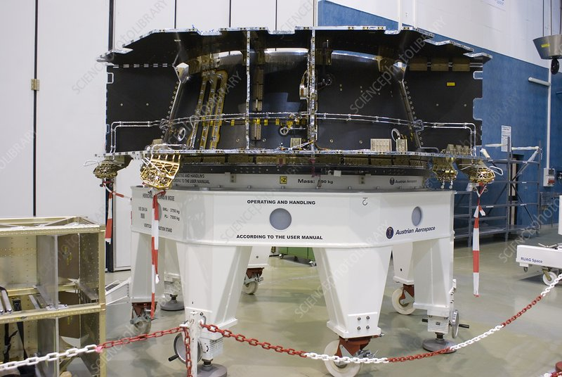 Spacecraft structure in cleanroom