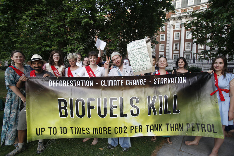 Biofuels demonstration and protest