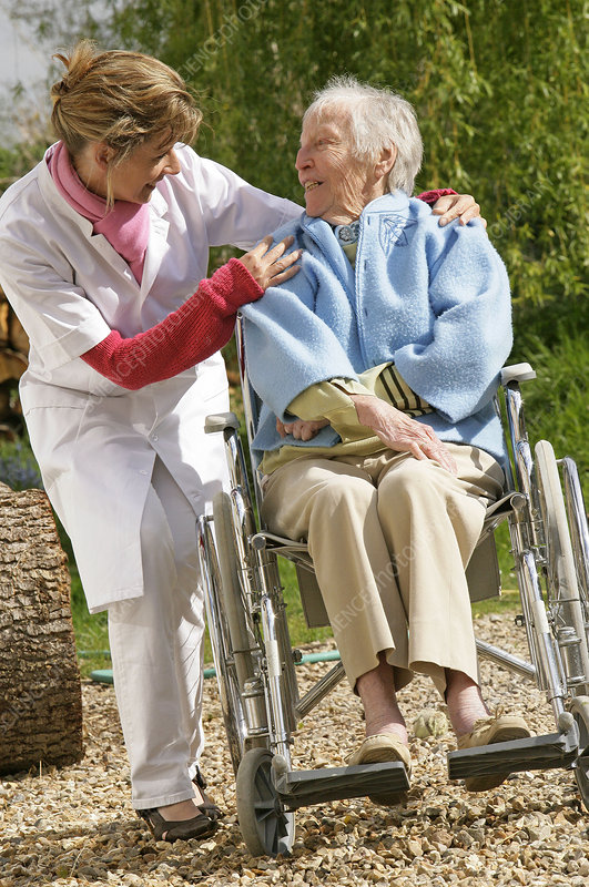 Geratric care for an elderly woman