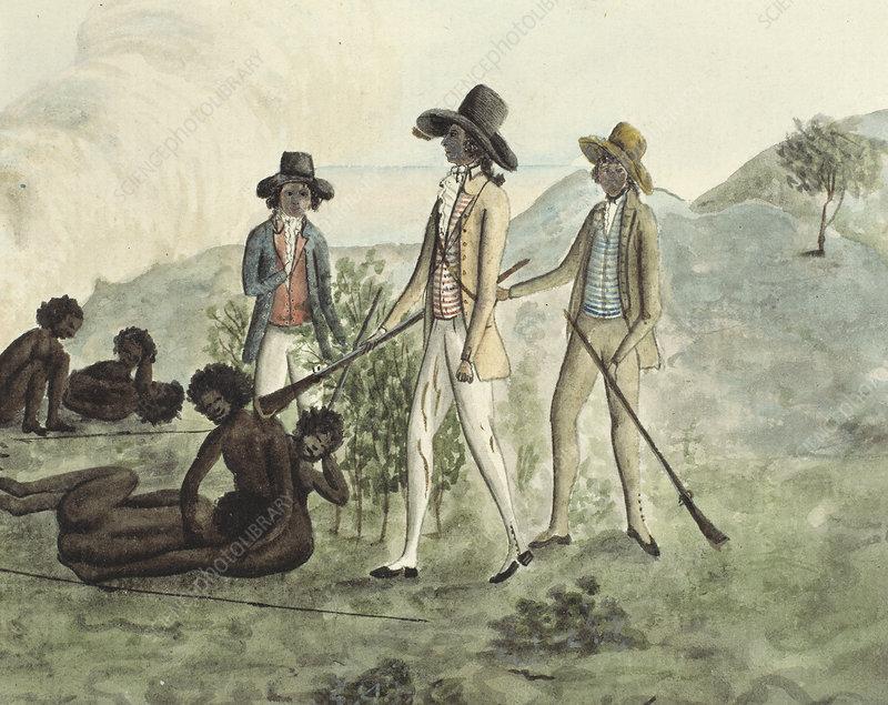 Inspecting Aborigines, artwork