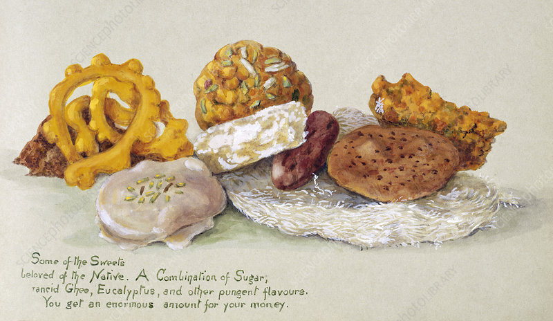 Indian sweets, early 20th century