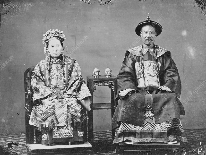 Chinese man and woman, 19th century