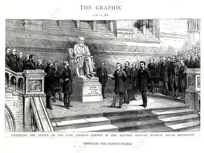 Charles Darwin statue unveiling, 1885