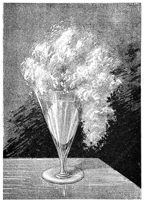 Egg chemical reaction, 19th century