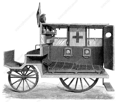 City ambulance, 19th century