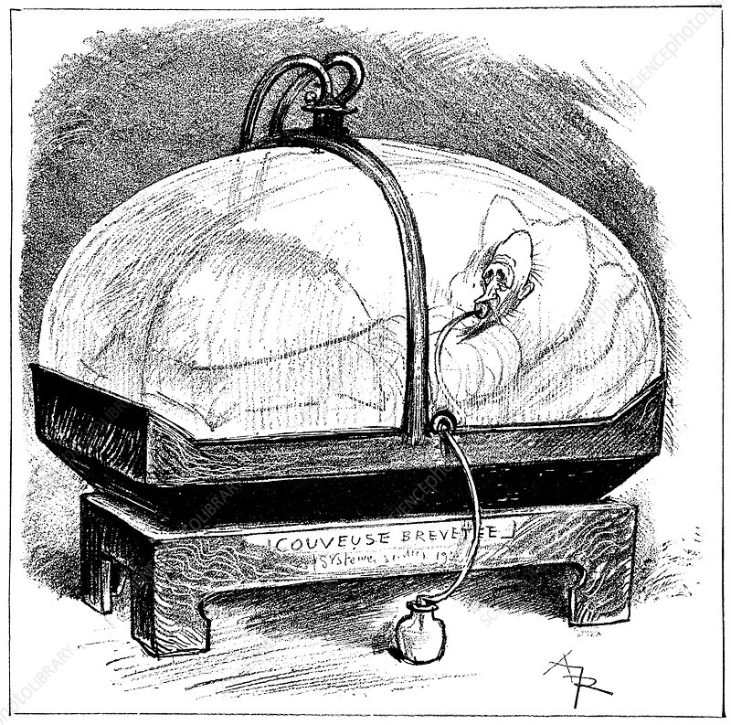 Electric incubator, 19th century