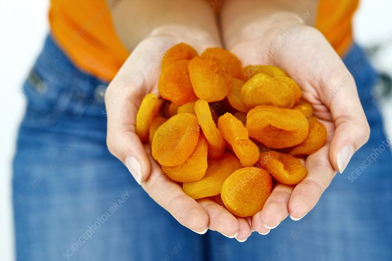 Handful of dried apricots