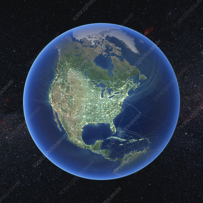 Human presence over North America