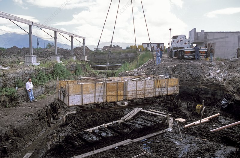 Bronze Age canal excavation, Italy