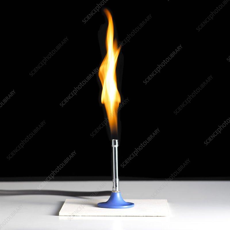 Bunsen Burner Flame Stock Image C010 9562 Science
