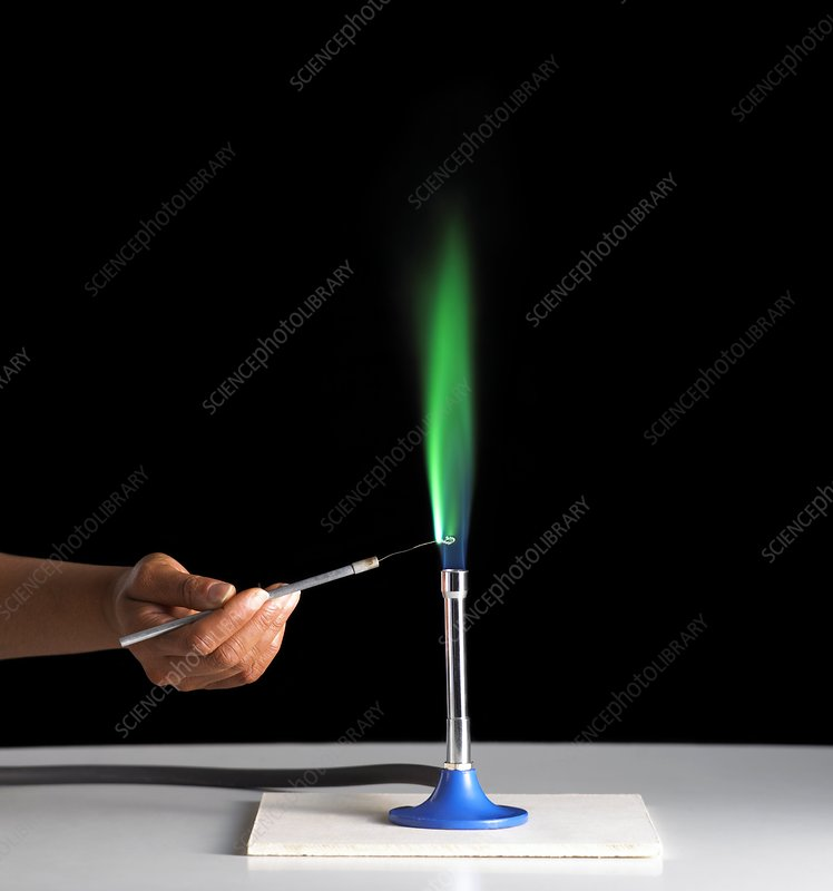 Copper flame test