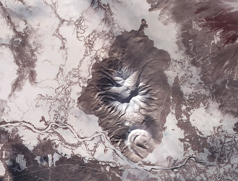 Kamchatka Peninsula, satellite image