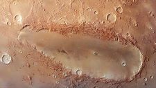 Orcus Patera, Mars Express image
