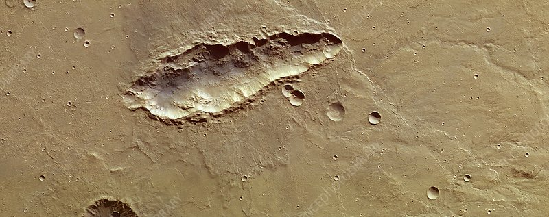South of Huygens, Mars Express image