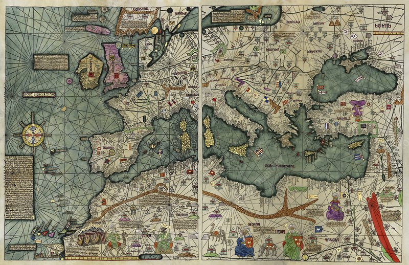 Catalan Atlas, 14th century