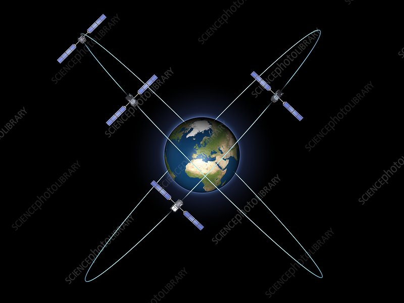 Galileo IOV satellites, artwork