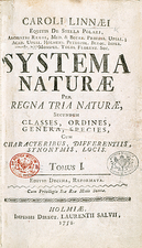 Systema Naturae cover page