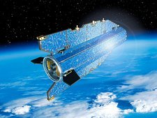 GOCE satellite in orbit, artwork