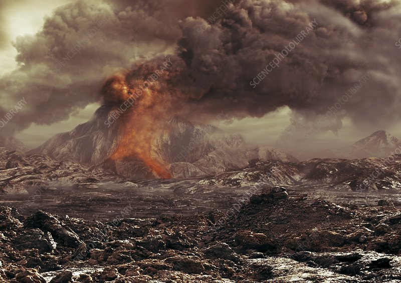 Volcanic activity on Venus, artwork