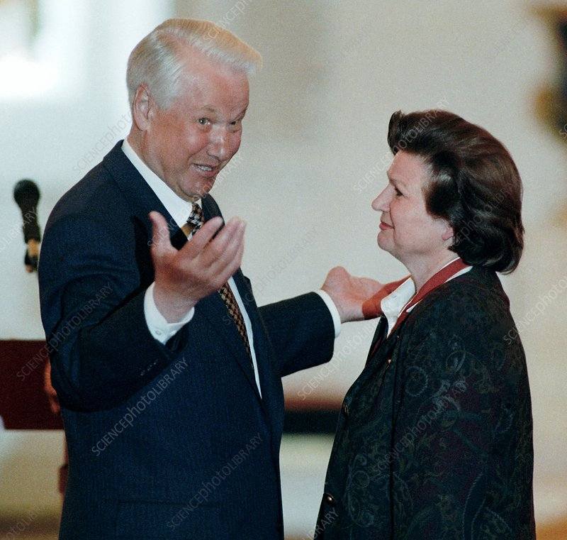 Boris Yeltsin with Valentina Tereshkova