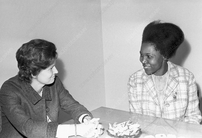 Valentina Tereshkova and Grace Ogot