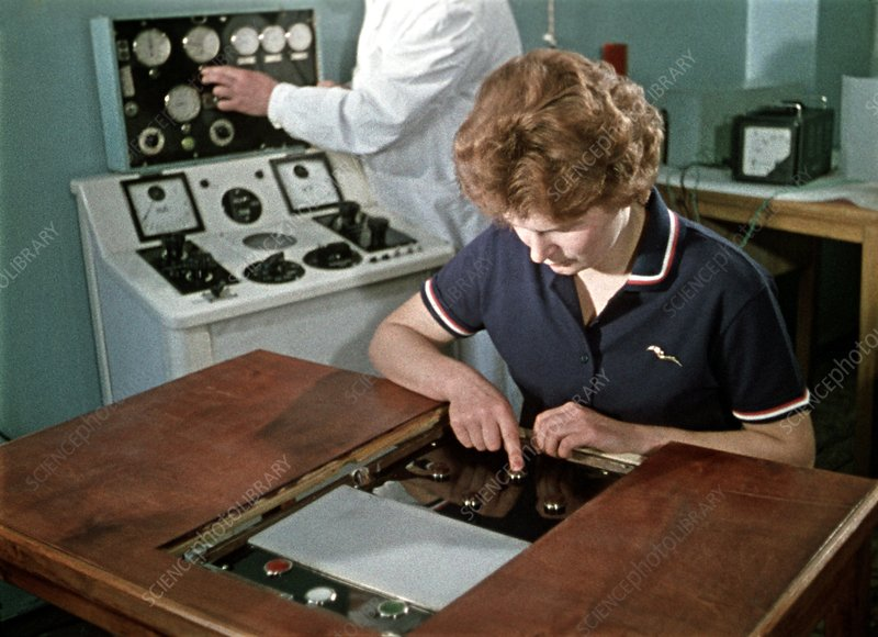 Cosmonaut Valentina Tereshkova training