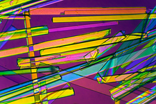 Zeolite crystals, polarised LM