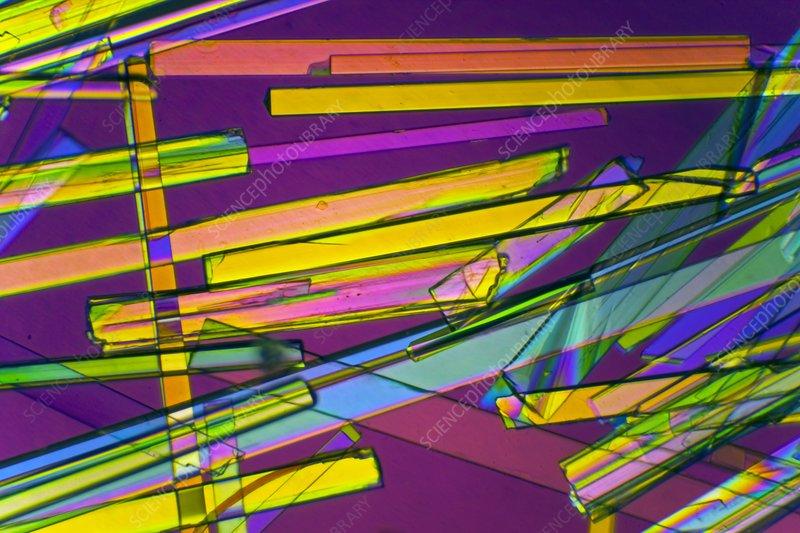 Zeolite crystals, polarised LM