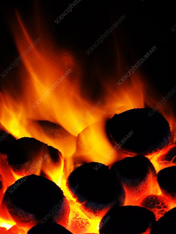 Smoke-free coal burning