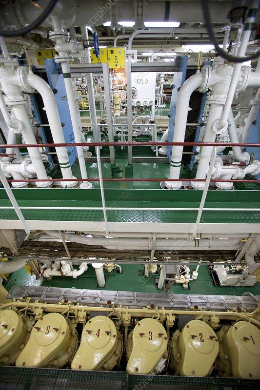 Cruise Ship Engine Control Room: Icebreaker Engine Room