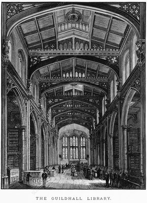 London's Guildhall Library, 1884 artwork