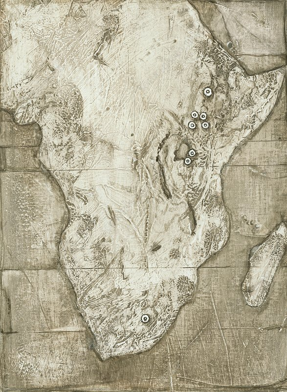Hominid fossil sites in Africa