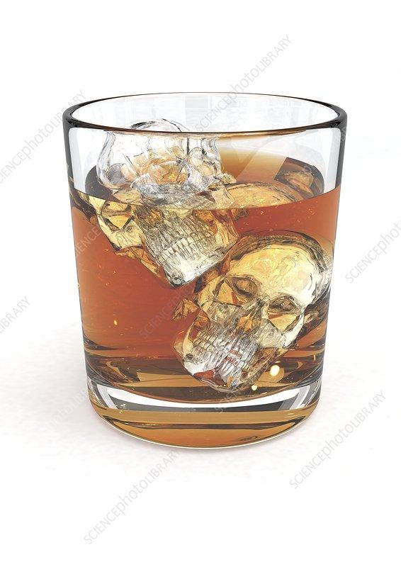 Dangers of alcohol abuse, artwork