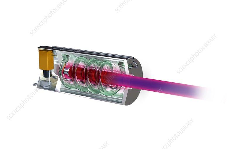 World's first working laser, artwork