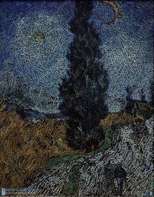 Van Gogh painting as data art