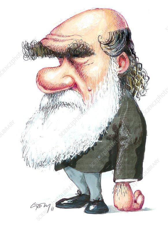 Charles Darwin, caricature