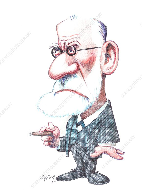 Sigmund Freud, caricature