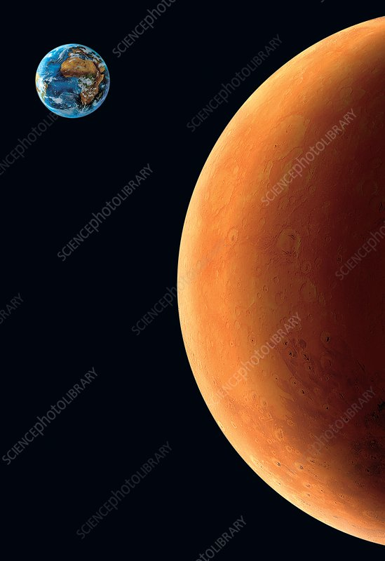Earth and Mars, artwork