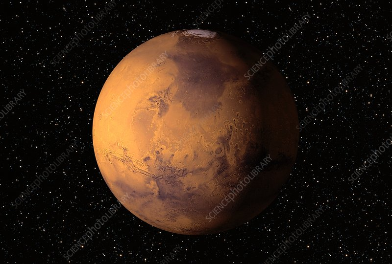 Mars Fourth Planet Sun Secondsmallest Planet Stock Vector