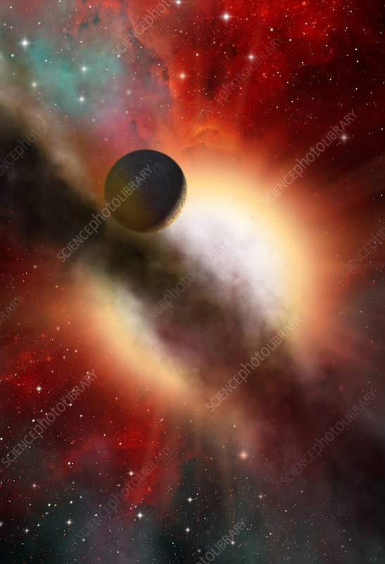 Exoplanet and parent star, artwork