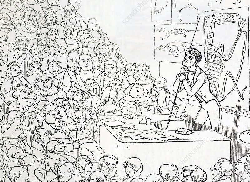 1850 Richard Owen zoologist lecturing
