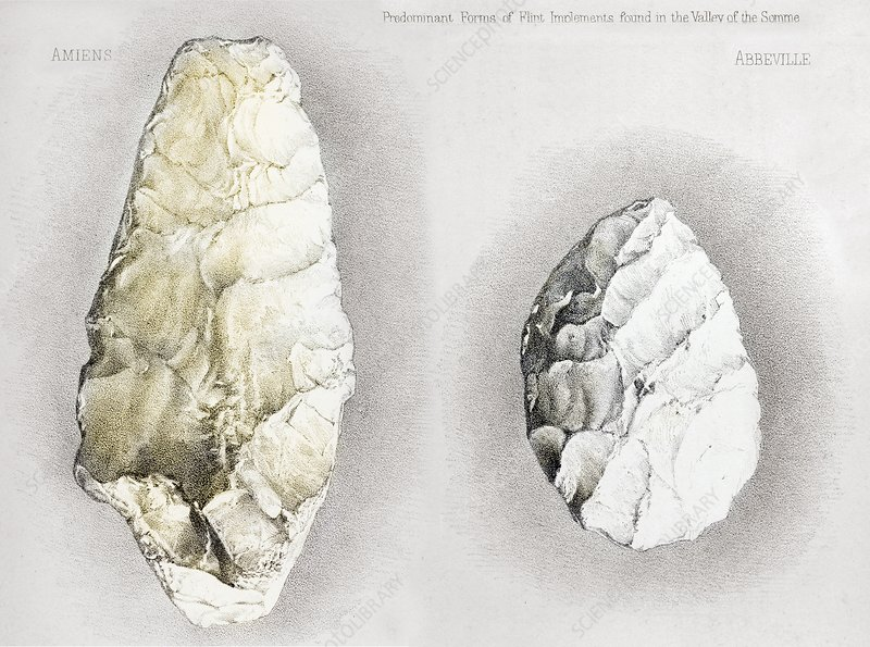 1860 Perthes handaxes, Abbeville, Amiens