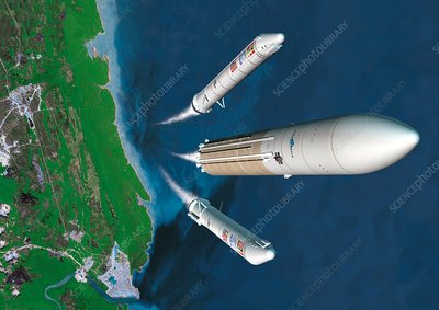 Ariane 5 rocket launch, artwork