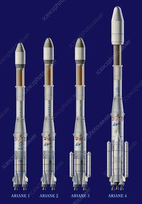 Ariane 1-4 rockets, artwork