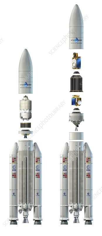 Ariane 5 rockets, artwork
