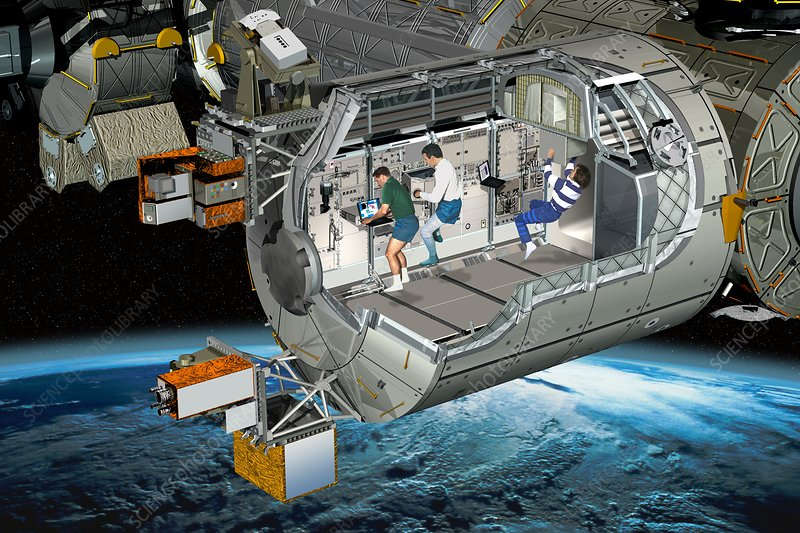 Columbus module of the ISS, artwork