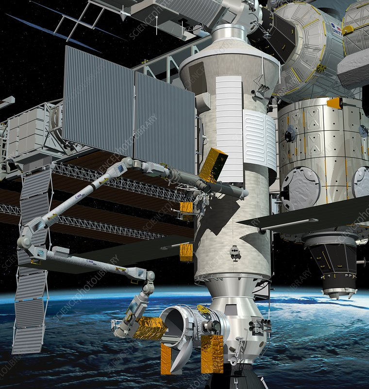 ERA robotic arm of the ISS, artwork