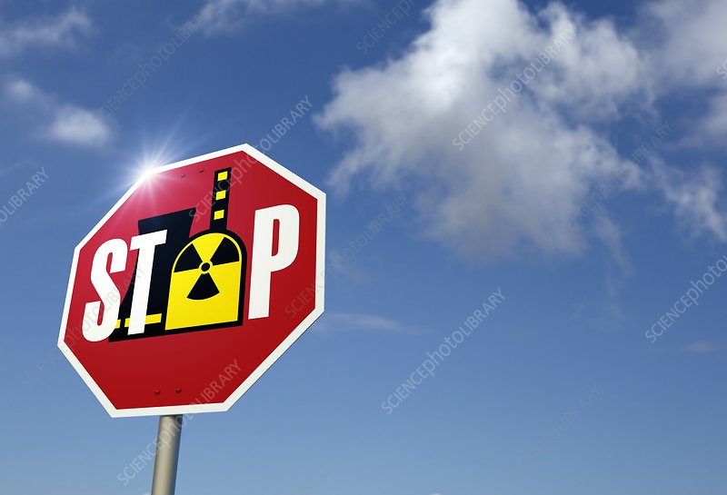 Stop nuclear power, conceptual artwork